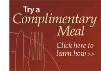 Try a Complimentary Meal at The Pines at Davidson in Davidson, NC